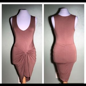 Forever 21 brown stretch dress